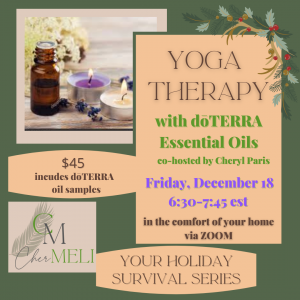 Friday Evening Yoga Therapy with Essential Oils